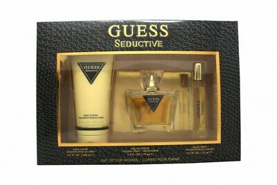 Guess Seductive Gift Set 75ml Edt + 200ml Body Lotion + 15ml Travel Spray. New • 34.06£