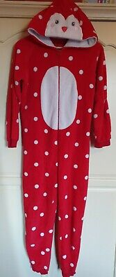 Girls Penguin Christmas Cosy Red Onsie Spotty  Dunnes (Not Gerber) Age 13years  • 2.50£