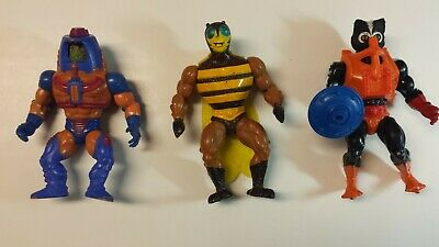 $12 • Buy Masters Of The Universe Action Figures Lot Of 3 Stinkor, Man E Faces, Buzz Off
