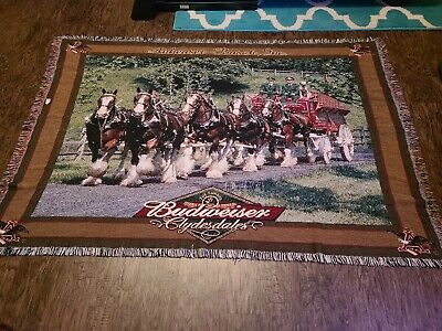 $ CDN89.02 • Buy Budweiser Clydesdale Tapestry Throw 50x72