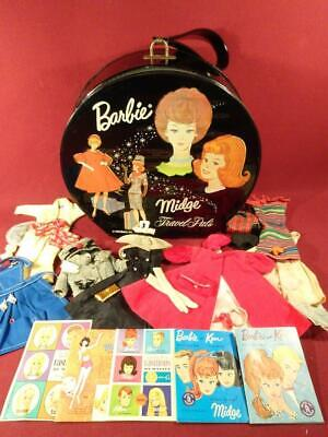 $ CDN123.27 • Buy VINTAGE 1960s BARBIE CLOTHING OUTFITS ACCESSORIES With ROUND CASE NICE!