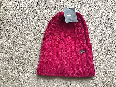 £10.99 • Buy Nike Ladies Cable Knit Beanie Hat-BNWT-One Size