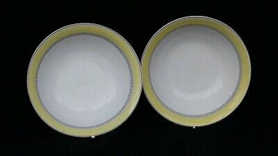 ROYAL DOULTON BLUEBERRY 6 1/4  CEREAL BOWLS X 2 Used  • 5.70£