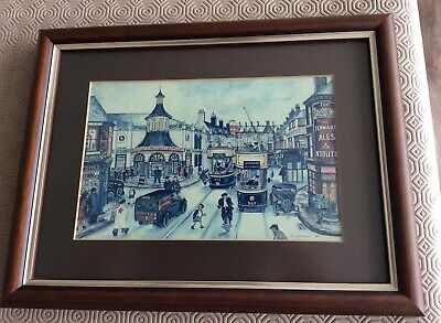 Terry Gorman- Signed- Art Print/picture- Sheffield- London Road • 22.99£
