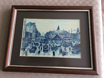 Terry Gorman-signed Art Print/picture-sheffield-the Moorhead C1935 • 22.99£