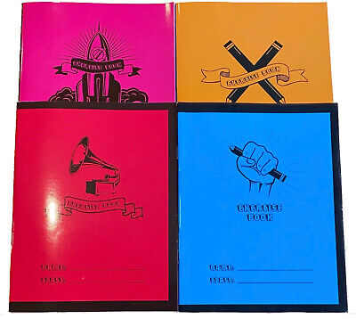 4 X Exercise Books School Notebook Children Homework Handwriting Lined Pages A5 • 3.49£