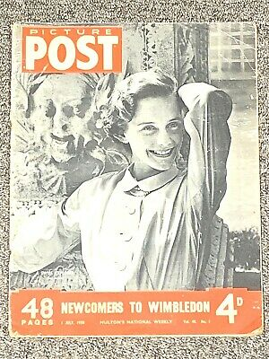 Vintage Picture Post Magazine 1 July 1950 Vol. 48 - No. 1 Newcomers To Wimbledon • 7.60£
