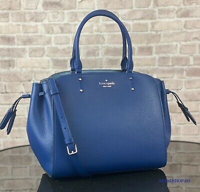 $ CDN153.10 • Buy KATE SPADE LEATHER TEGAN MEDIUM SATCHEL SHOULDER CROSSBODY BAG PURSE $359 Blue