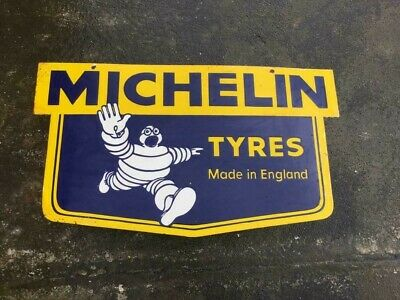$ CDN60.91 • Buy Porcelain Michelin Tyres Enamel Sign Size 30  X 17  Inches Double Sided