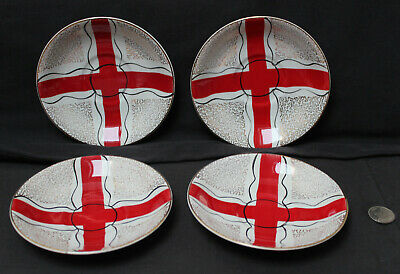 Delphatic China Barratts England B755897 St George's Flag Cross Red White Saucer • 5.50£