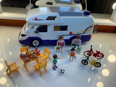 Playmobil 4859 Camper Van With Figures And Accessories • 10£