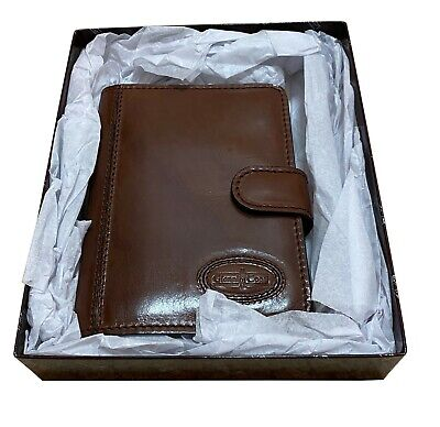 A Boxed Genuine Leather Filofax Organiser By Gianni Conti Credit Card Pockets • 99.99£