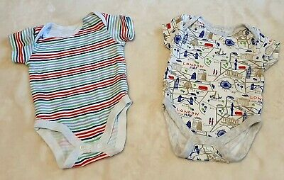 Baby Boy Body Suits X 2 Age 3-6 Months • 2.20£
