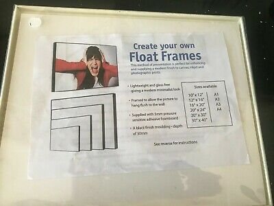 Photograph Float Frame Cream 10  X 8   • 3£