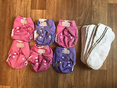 Reusable Nappies X6 With Inserts (size 1 Newborn) • 10£