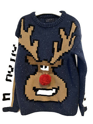 Boys Next Christmas Rudolph Jumper Age 7 Years • 0.99£