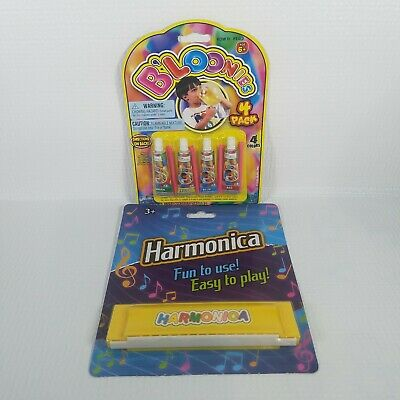 $ CDN9.36 • Buy Toy Set Bloonies 4 Pack Multi Color PLUS Childs Harmonica, Yellow Includes Straw