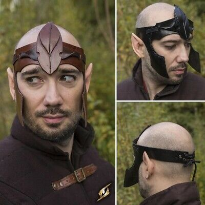 £24.50 • Buy Quality Leather Elven Headband. Perfect For Stage Costume & LARP. 2 Colours