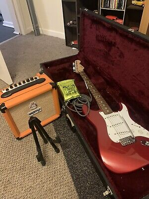 Fender Stratocaster Guitar Mexican And Orange Amp • 700£