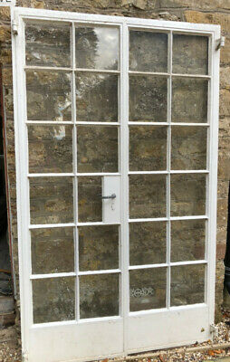 Crittall Metal Patio/French Doors And Frame H205.5cm X W124cm • 50£