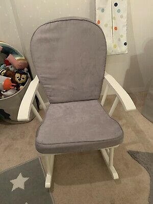 Mothercare Nursing White Rocking Chair Grey Cushions. Nursery. Baby. • 75£