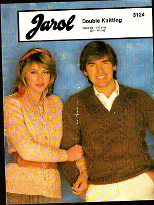 Jarol Knitting Pattern, His & Her Sweater & Cardigan, 34-44in, 3124 • 1.50£