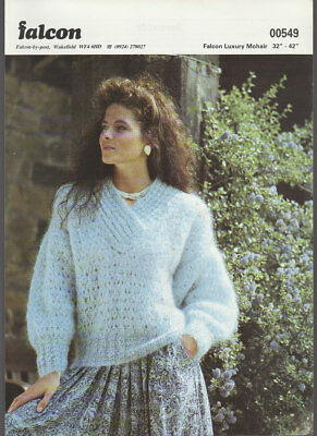 Knitting Pattern, Falcon, Ladys Mohair  Sweater,  32-42in, 00549 • 1.50£