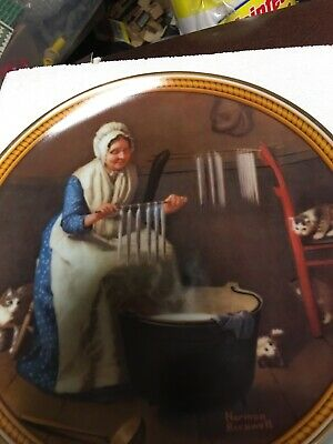 $ CDN6.49 • Buy Norman Rockwell Collector Plate Light For The Winter Knowles 1987 W/box 1987