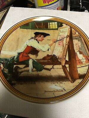 """$ CDN1.82 • Buy Vintage Norman Rockwell Collector Plate W/Box """"Sign Of The Times"""""""