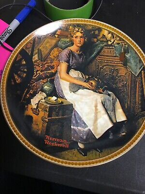 $ CDN1.82 • Buy Norman Rockwell Collector Plate  Dreaming In The Attic  Plate #17730 Aj