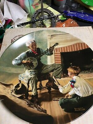 $ CDN1.28 • Buy Norman Rockwell Plate By Knowles The Banjo Player - Collector Plate 1989 #5778F