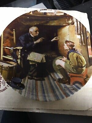 $ CDN1.28 • Buy 1988 Norman Rockwell Collector Plate  The Veteran  By Edwin M. Knowles #9392f
