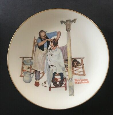 $ CDN5.13 • Buy Norman Rockwell - Gorham Collector's Plate - SUMMER - SHEAR AGONY - 1977 10.5