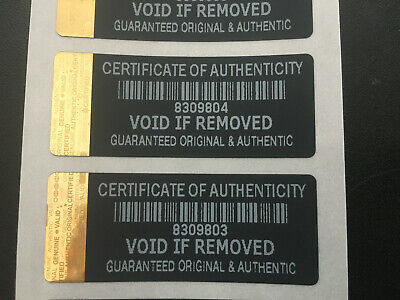£51.99 • Buy Black / Gold Hologram Certificate Authenticity Security Labels Stickers X1000