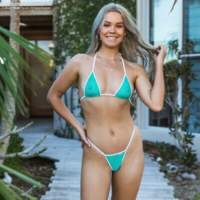 $ CDN58.39 • Buy Rare Wicked Weasel Medium Top Wave Mesh Green And White Limited Edition