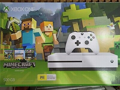 AU190 • Buy Microsoft Xbox One S 500GB White Console + Limited Edition Minecraft Controller