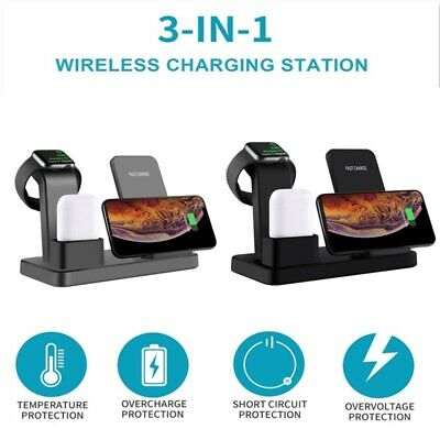 AU42.19 • Buy 3 In 1 Wireless Charger Fast Charging Dock Station For IPhone Apple Watch Airpod