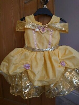 BABY Girls Disney Princess Belle Party Costume Fancy Dress Beauty And The Beast  • 3£