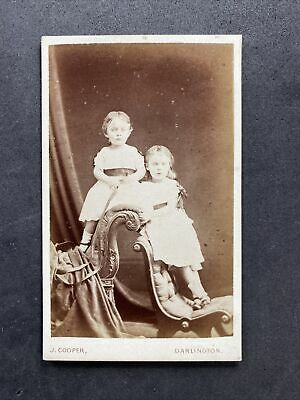 £6.50 • Buy Victorian Carte De Visite CDV: Children Twin? Outfits : Cooper: Darlington 1875