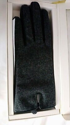 Women's Bailey And Quinn Boxed Tweed Effect Leather Gloves Size Large • 8£