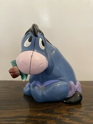 Disney WTP Winnie The Pooh Eeyore With Flowers Money Box • 4.99£