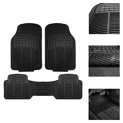$18.99 • Buy Universal Floor Mats For Car All Weather Heavy Duty 3pc Rubber Set Black