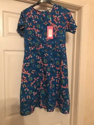 Girls Dress Blue With Floral Print Yumi Age 13-14 New With Tags • 24.99£