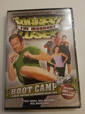 New Sealed The Biggest Loser The Workout BOOT CAMP DVD Bob Harper Fitness Cardio • 4.28£
