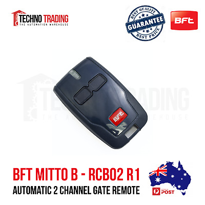 AU35.50 • Buy BFT MITTO B Automatic 2 Channel Gate/Garage Door Remote (100% Genuine)