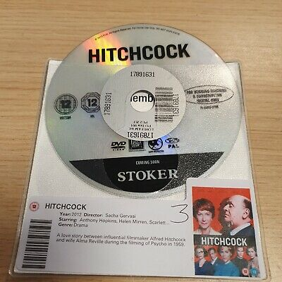 DISC ONLY - Hitchcock DVD  Anthony Hopkins Helen Mirren • 1.65£