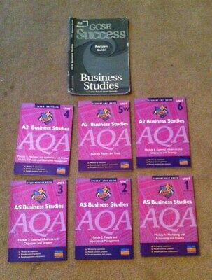 6 AQA Business Studies Books AS And A2 And A GCSE Letts Business Studies Guide • 20£