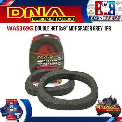 AU29.95 • Buy DNA WAS369G 6x9  Double Height Grey MDF Speaker Spacers (Pair)