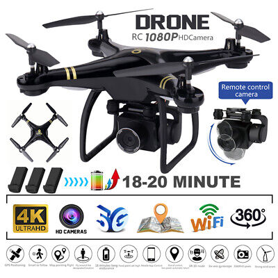 AU191.08 • Buy 5G Drones X Pro With HD 4K 1080P Camera Gps Follow Me Wifi FPV Quadcopter Drone