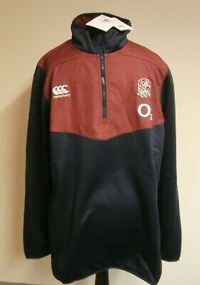 England Rugby Union Canterbury Thermoreg 1/4 Zip Top Jacket 3XL Mens Brand New • 18£
